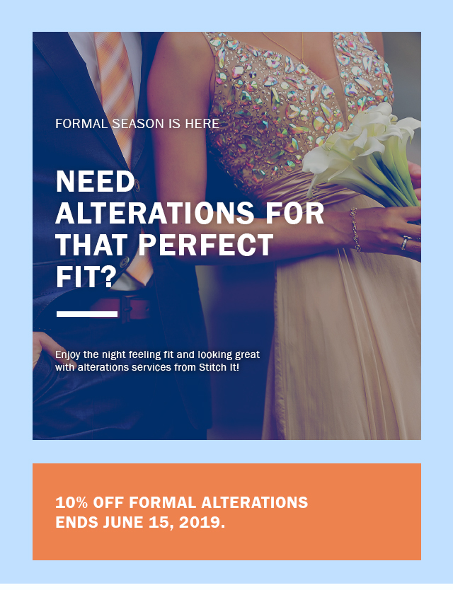 Formal season is here. Need alterations for that perfect fit?